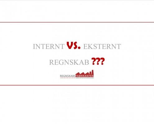 Internt vs eksternt regnskab
